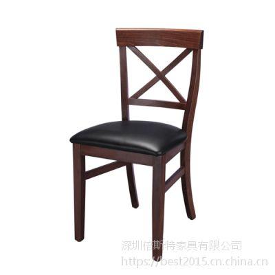 倍斯特现代中式实木餐椅创意中餐甜品湘菜厂家定制