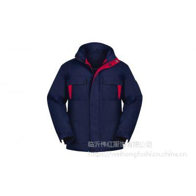 临沂工厂棉衣定做 淄博劳保服棉袄订做 冬季加厚棉服定制
