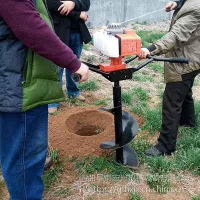 电动挖坑机_苗木基地打洞机 汽油挖坑机