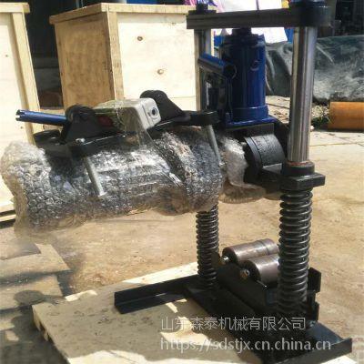 山东森泰双立柱电动液压切管机 镀锌管无缝管切管机 219消防管道切割机