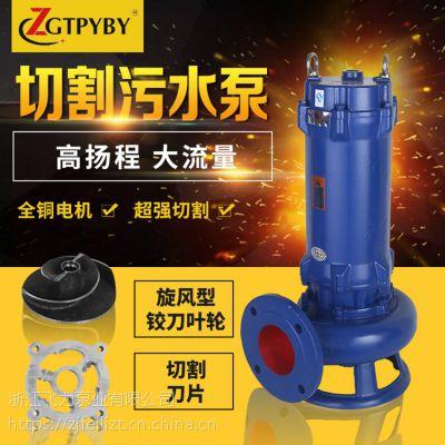 切割型排污泵100XWQ100-15-7.5 无堵塞切割排污泵厂家直销