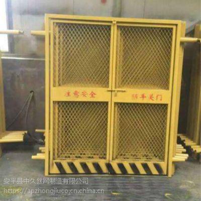工地施工电梯门 临时电梯防护门 建筑施工安全隔离门