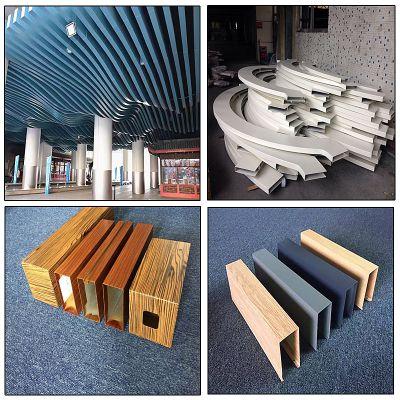 香港1.2弧形包柱木纹铝板方通、香槟金铝方通厂家