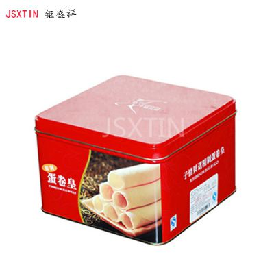蛋卷铁盒包装定做 曲奇饼干马口铁盒铁罐