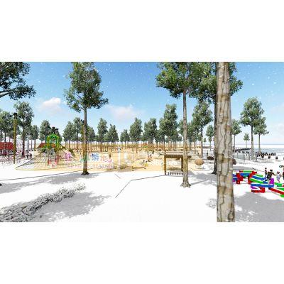 红孩儿游乐厂家规划定制户外儿童乐园 无动力游乐设备直销安装