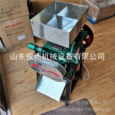 烟台酿酒用高粱破碎机 振德 新款立式电动粮食挤扁机 花生米破碎机图片