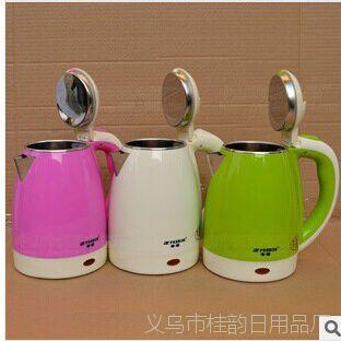 不锈钢电热水壶/保温水壶包胶防烫电水壶水煲OEN礼品印字