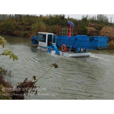 园林景区水草船 小型半自动水草收集设备
