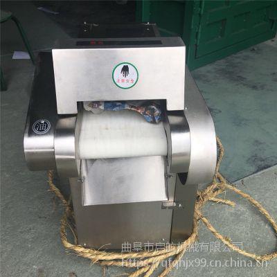 新款腐竹切段切块机 启航莲藕切片机图片 鸭脖切片机