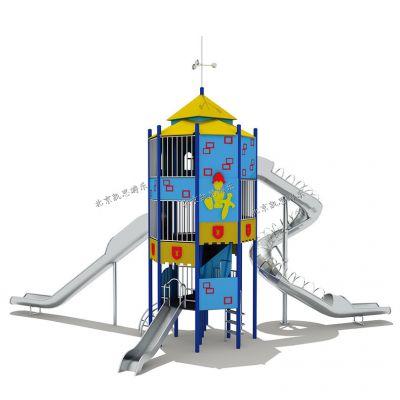 不锈钢滑梯户外广场定制景区游乐设备幼儿园儿童组合滑梯可加工定做