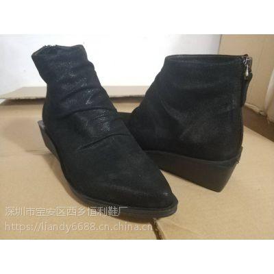 专业来样订做加工真皮靴 真皮女鞋