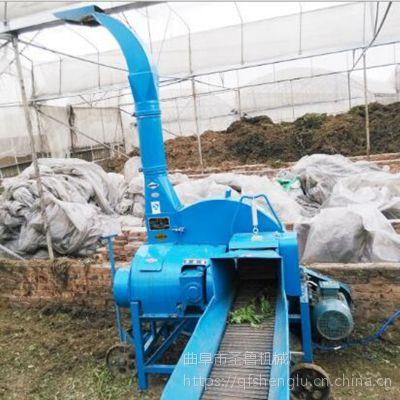 大型柴电两用揉搓铡草机 自动进料铡草机 圣鲁机械