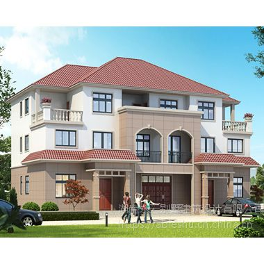 2019新款AT1826三层联排兄弟合建别墅设计施工图纸20mX12.5m