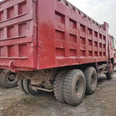 忻州二手豪沃后八轮工程自卸车专用货车急售,马力336,车厢5.6米,法士特变速箱