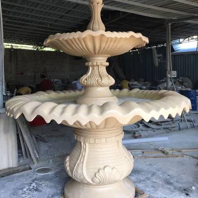 地产园林景观工程树脂工艺品喷泉水景艺宇仿砂岩欧式喷泉跌水喷组合