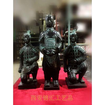 西安纯铜兵马俑 陕西青铜兵马俑仿古工艺品 纯铜纪念礼品定制