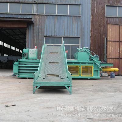 供应CYWS-120型废纸箱压缩打包机自动穿绳柱塞泵连续出包