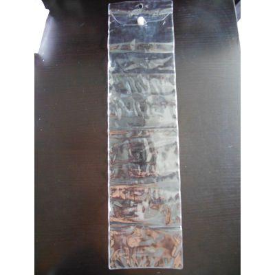 厂家批发 现货供应PVC外贸塑料薄膜袋 翻叶纽扣袋 尺寸13*51CM 五金工具包装袋子