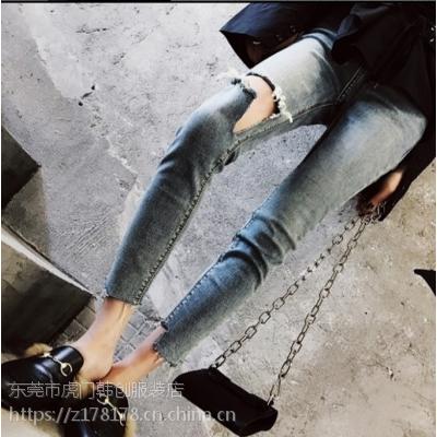 厂家直销大量秋冬新款牛仔裤杂款尾货女装长裤低价女士小脚裤清