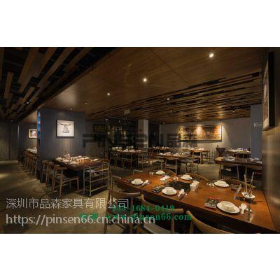 品森专业订做广东地区大理石火锅店家具 一人一锅小火锅桌 现代中式
