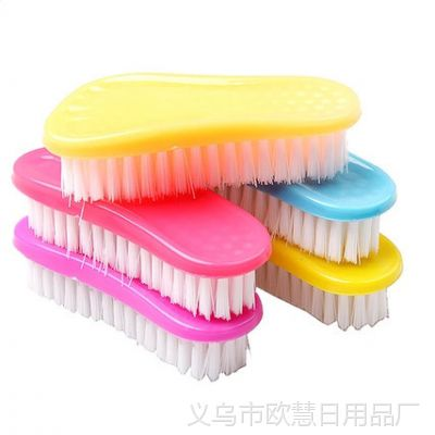 TY 可爱脚丫多用清洁刷子 彩色软毛洗衣刷 洗鞋刷 脸盆刷