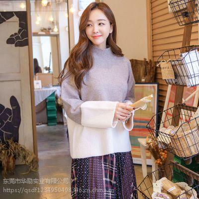 艾唯都杭州尾货服装批发市场 怎样加盟女装品牌折扣店尾货藏蓝色休闲裤