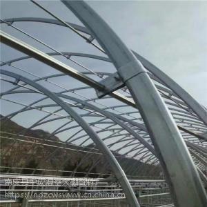 供应温室养殖棚骨架 全新镀锌椭圆管骨架大棚及配件量大优惠