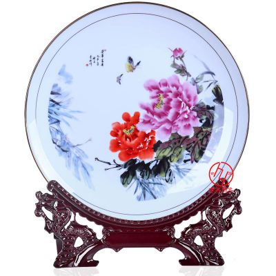 江西陶瓷礼品纪念盘定做,文化礼品瓷盘摆件供应商