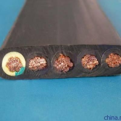 长峰KGGBP 硅橡胶绝缘和护套铜丝编织分相屏蔽扁平控制软电缆