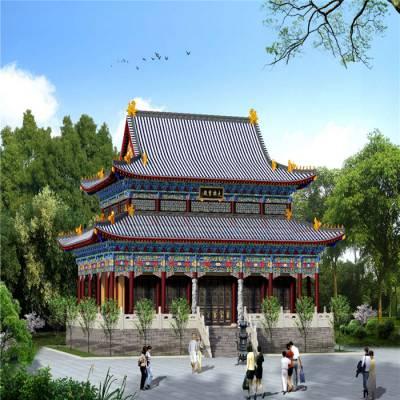广东古建寺庙设计,广东寺院效果图,广东寺庙施工,广东大殿装修设计