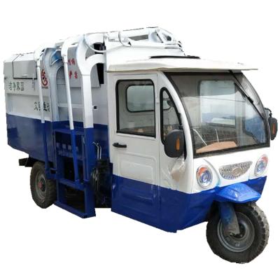 厂家直销小型垃圾车 自卸式 新能源电动三轮挂桶式垃圾车