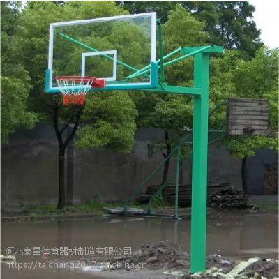 地埋方管篮球架 厂家直销方管篮球架 地埋方管篮球架图片