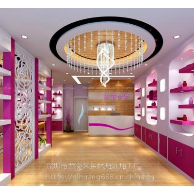 中式现代风格装饰板材波浪板室内隔断通花板立体造型板专业定制厂