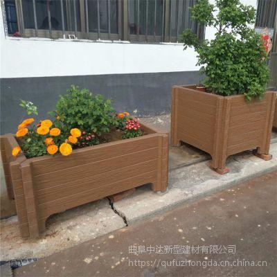 景观建设绿化工程水泥仿木花桶 简约方形仿木花箱 宿州市厂家大量供应