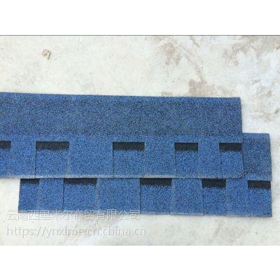 云南沥青瓦厂曲靖优质烤砂三亚牌单层标准型中国红玻纤胎沥青瓦