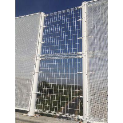 桥梁双圈防抛网厂家 白色喷塑卷圈护栏网 安平百瑞双圈防护围栏
