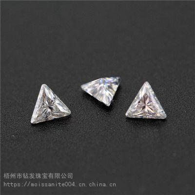 工厂直销精选优白DEF色几何形莫桑石裸石人造仿真钻石