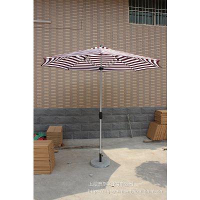 定制铝杆拉丝手摇遮阳伞、手摇中柱伞庭院休闲伞批发