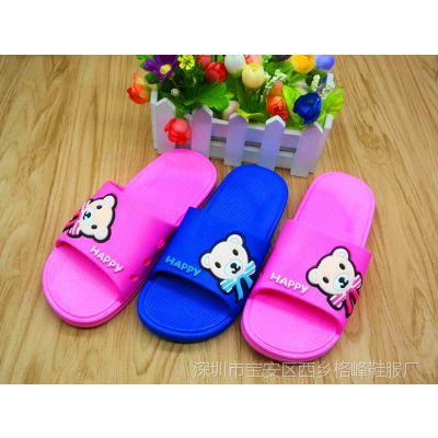 夏季儿童拖鞋小童男女款卡通图案一字拖鞋居家室内外防滑凉拖批发