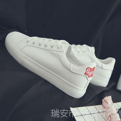小白鞋女2018秋季新款女鞋时尚学生休闲鞋三次硫化韩版超纤板鞋女