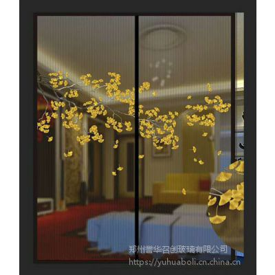 3D打印中空玻璃门芯,誉华夹丝玻璃,艺术玻璃全国诚招代理!
