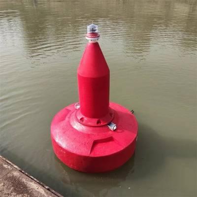 武汉红色锥形浮标 航道右侧绿色塑料浮标