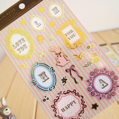 韩国创意 丽龙烫金贴纸 装饰贴纸