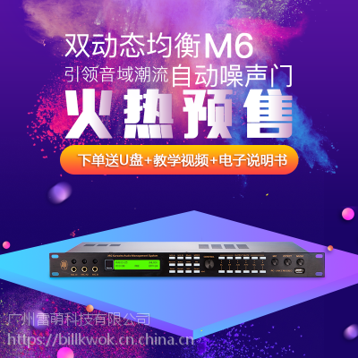 KTV卡拉OK娱乐音频处理器前级效果器雷萌科技M6