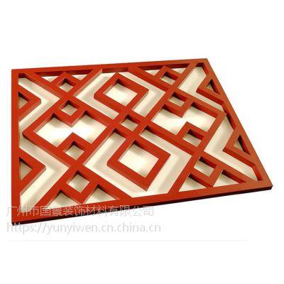 厂家定制 中式复古移动铝屏风 造型木纹铝窗花