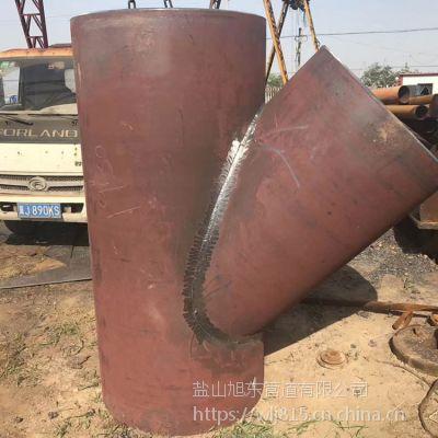 碳钢大口径对焊三通 加强筋跨越焊接三通