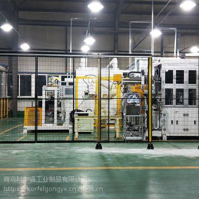 山东潍坊供应2米高车间隔离网低碳钢丝网网目20*80立柱40*40
