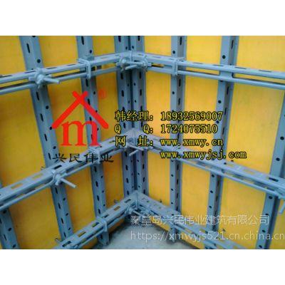 新型模板支撑怎么达到清水墙施工效果q235