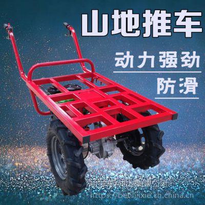 农业插秧稻苗搬运车 带发动机平板车 奔力SL-MG7