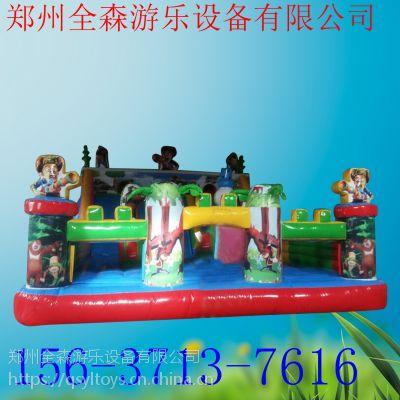 熊出没儿童充气城堡蹦蹦床 充气滑梯游乐设备全森订做
